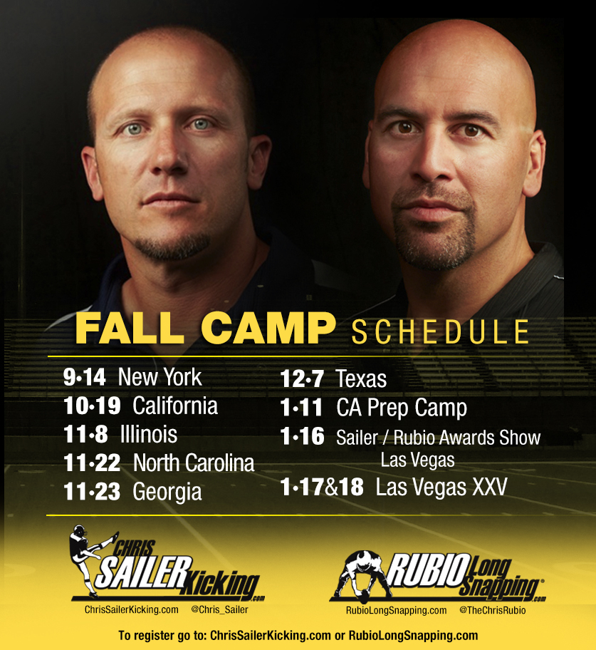 Rubio Long Snapping Fall Schedule