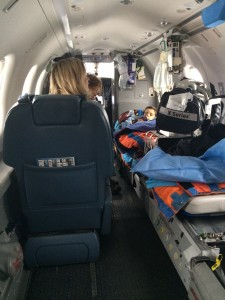 In the plane to Seattle Children's Hospital