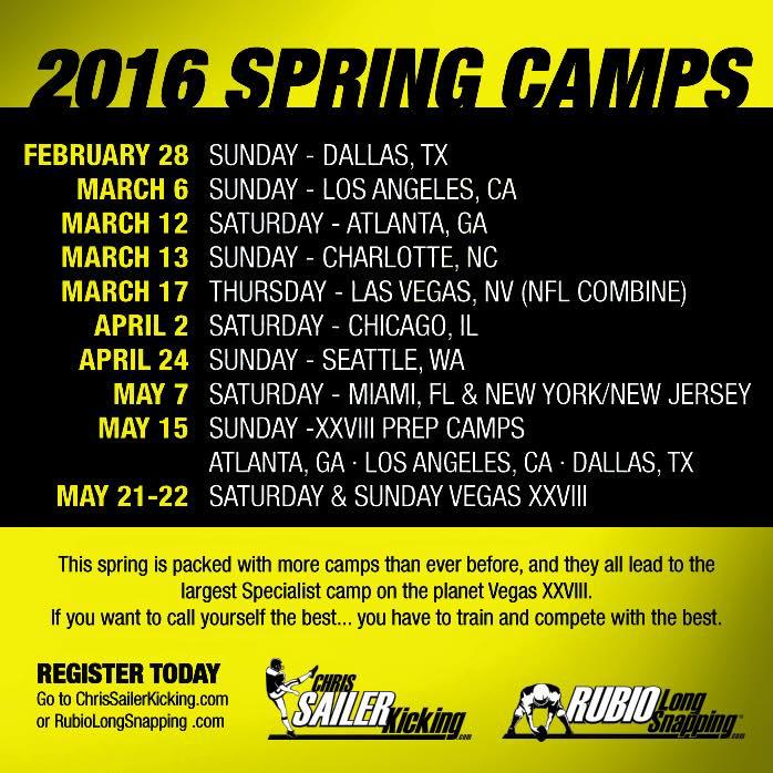2016 Spring Camps
