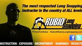 Rubio Long Snappers in College Bowl Games