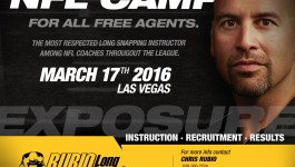 Rubio Long Snapping NFL Camp